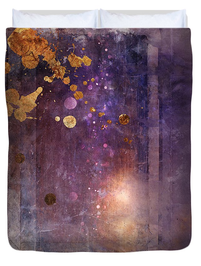Abstract Duvet Cover featuring the digital art Portal Variant 1 by MGL Meiklejohn Graphics Licensing