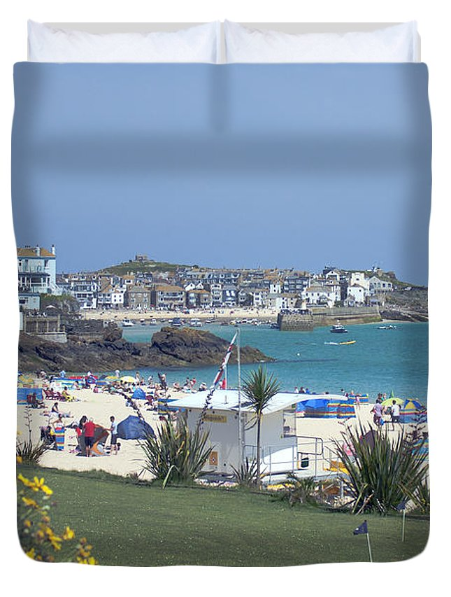 Porthminster Duvet Cover featuring the photograph Porthminster Mini Golf by Terri Waters