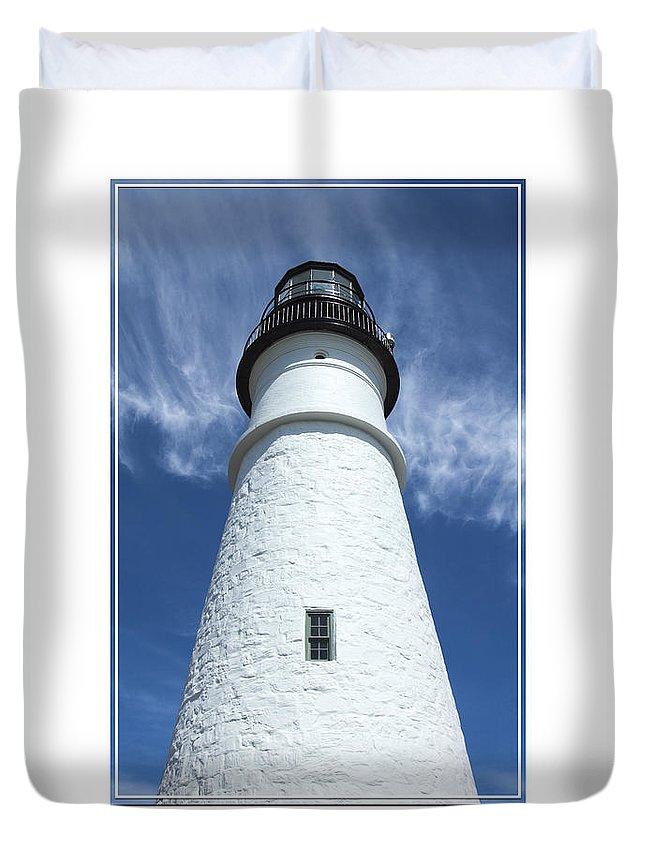 Portland Head Light Duvet Cover featuring the photograph Portland Head Light by Mike McGlothlen
