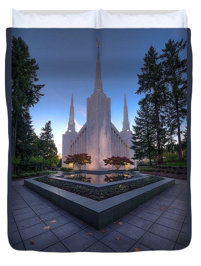 Portland Temple Photographs Duvet Covers