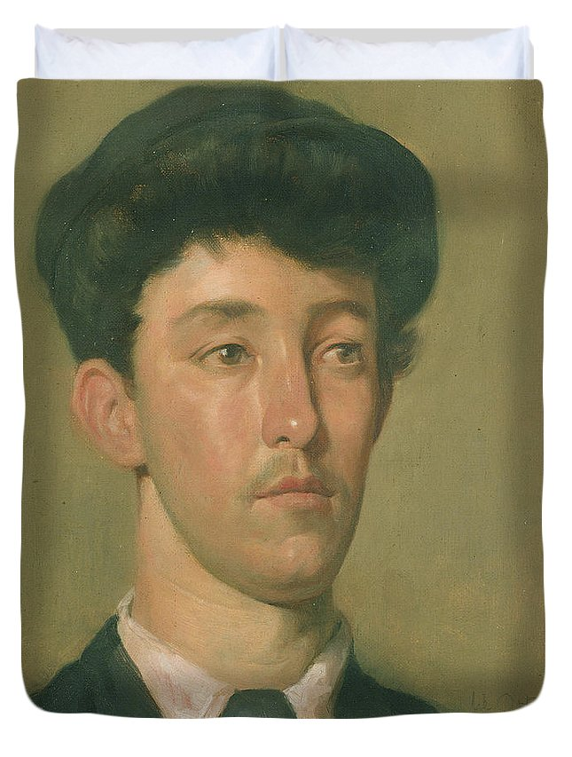 Portrait Duvet Cover featuring the painting Portrait Of A Youth by Sir William Orpen