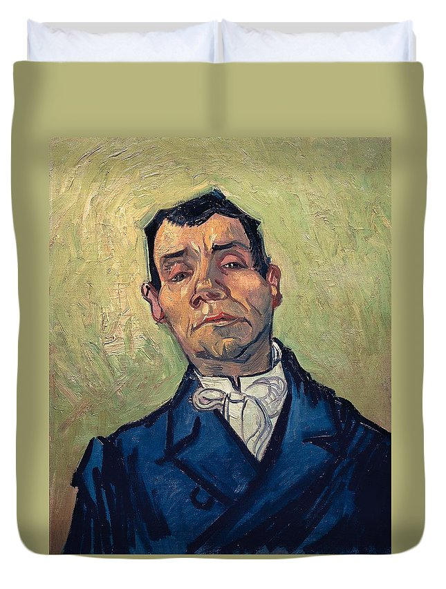 Art Duvet Cover featuring the painting Portrait Of Man by Vincent van Gogh