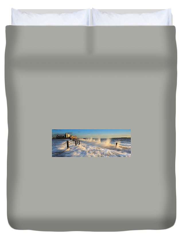 Tranquility Duvet Cover featuring the photograph Post Haste by A Pixelsuzy Image