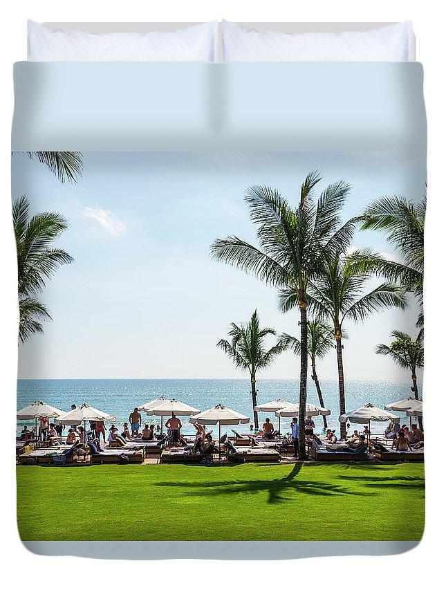 Scenics Duvet Cover featuring the photograph Potatoe Head Beach Bar, Seminyak, Bali by John Harper