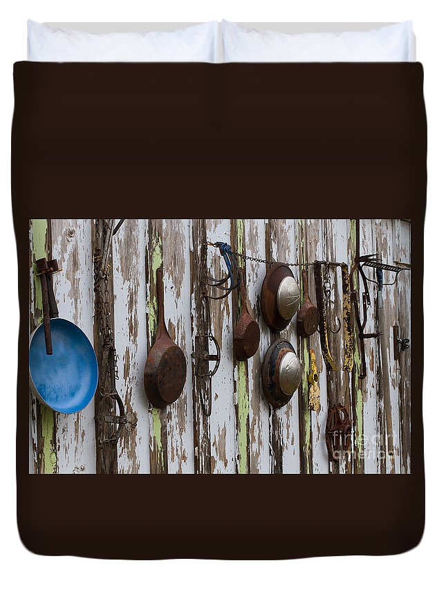 Texas Duvet Cover featuring the photograph Pots And Pans by Ashley M Conger
