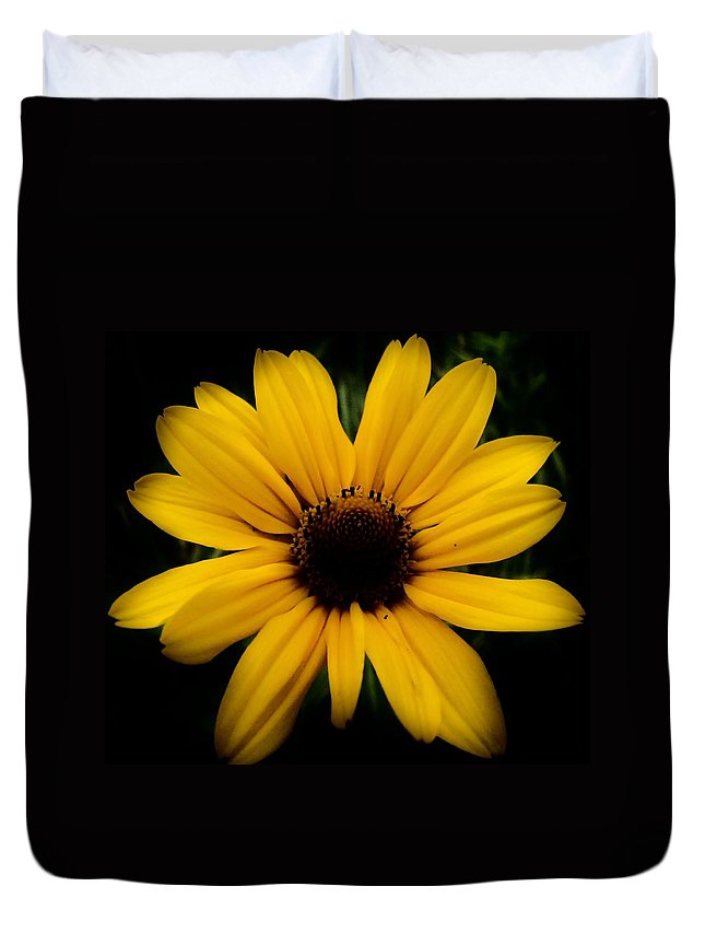 Prairie Coreopsis Duvet Cover featuring the photograph Prairie Coreopsis by Eric Noa
