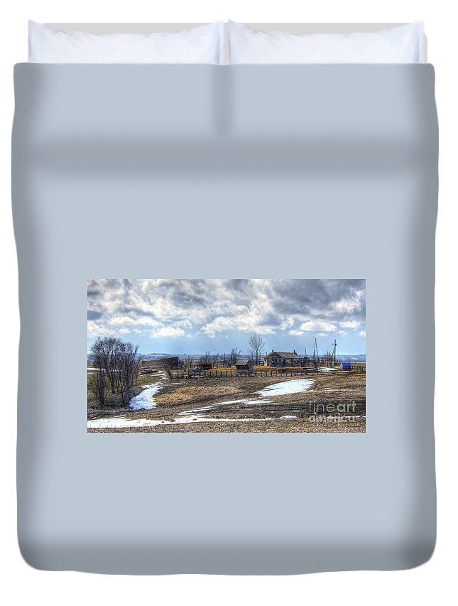 Prairie Duvet Cover featuring the photograph Prairie Image by M Dale