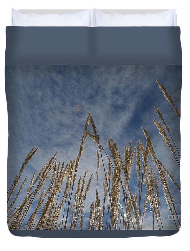 Prairie Duvet Cover featuring the photograph Prairie Prayers by Brian Boyle
