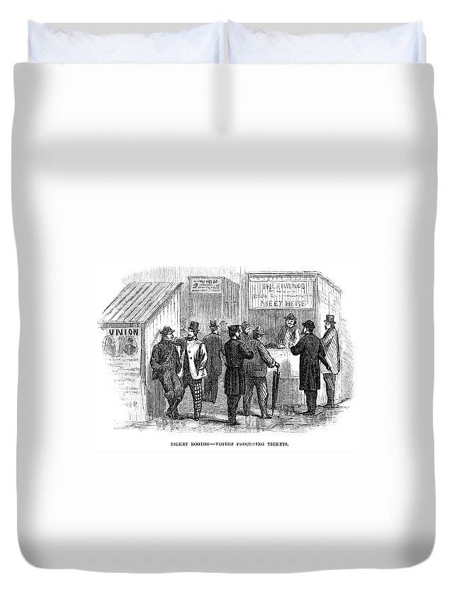 1864 Duvet Cover featuring the painting Presidential Election, 1864 by Granger