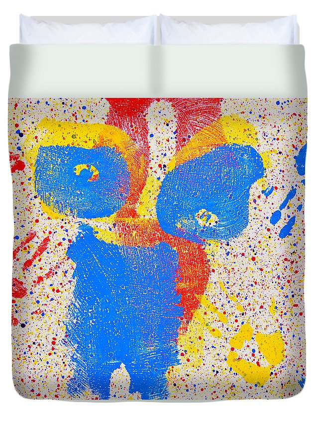 Nude Paintings Paintings Duvet Cover featuring the painting Pressed Paint by Mayhem Mediums