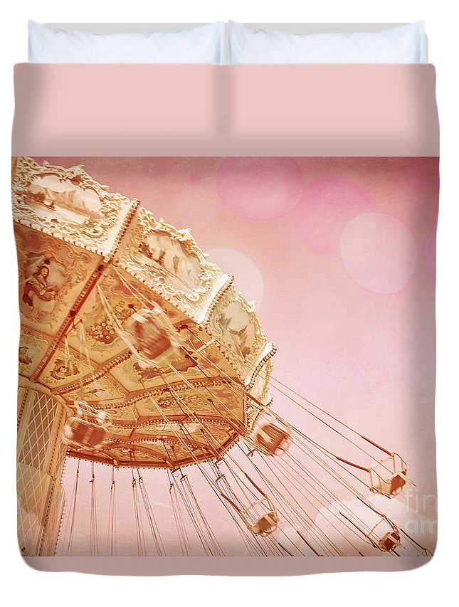 Carnivals Duvet Cover featuring the photograph Carnival - Pretty In Pink by Colleen Kammerer