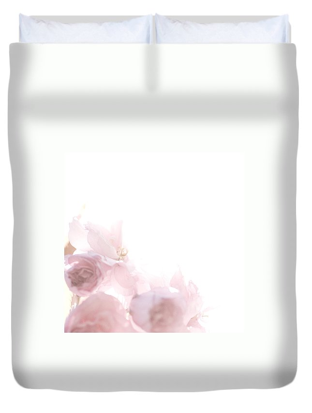 Art Duvet Cover featuring the photograph Pretty In Pink - The Dancer by Lisa Parrish