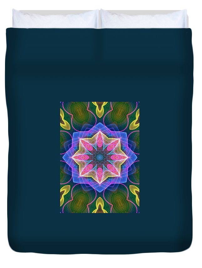 Series Echo Duvet Cover featuring the digital art Pretty by Owlspook