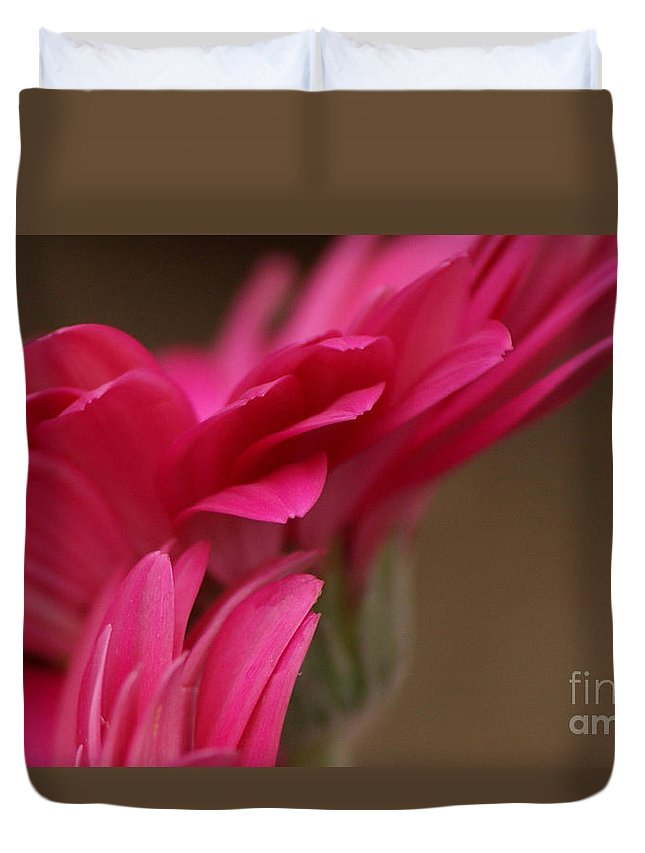 Pink Duvet Cover featuring the photograph Pretty Petals by Carol Lynch