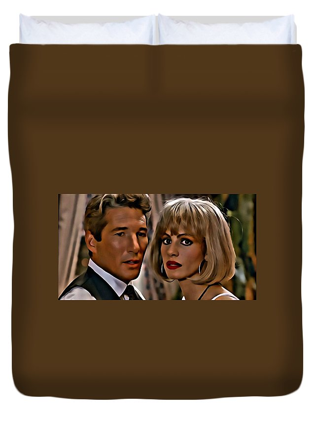 Pretty Woman Duvet Cover featuring the painting Pretty Woman by Florian Rodarte
