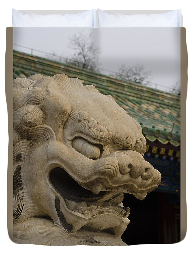 Duvet Cover featuring the photograph Prince Gong's Mansion by Terri Winkler