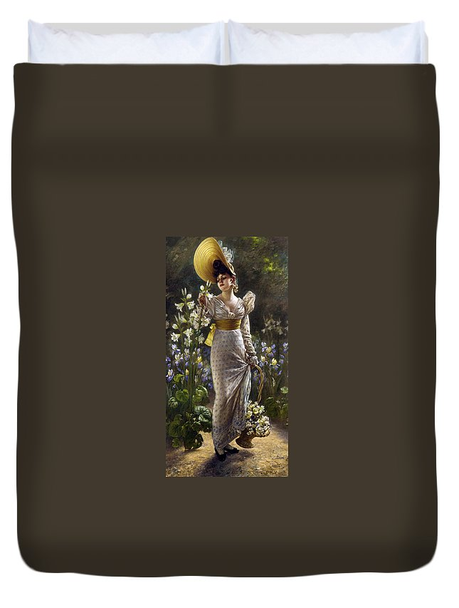 Karl Gampenrieder Duvet Cover featuring the digital art Princess Elvina Of Bavaria by Karl Gampenrieder