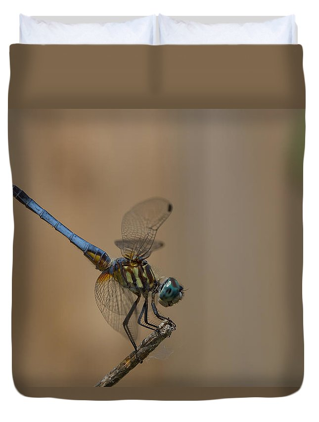 Dragonfly Art Duvet Cover featuring the photograph Profile Of The Dragonfly by Kim Henderson