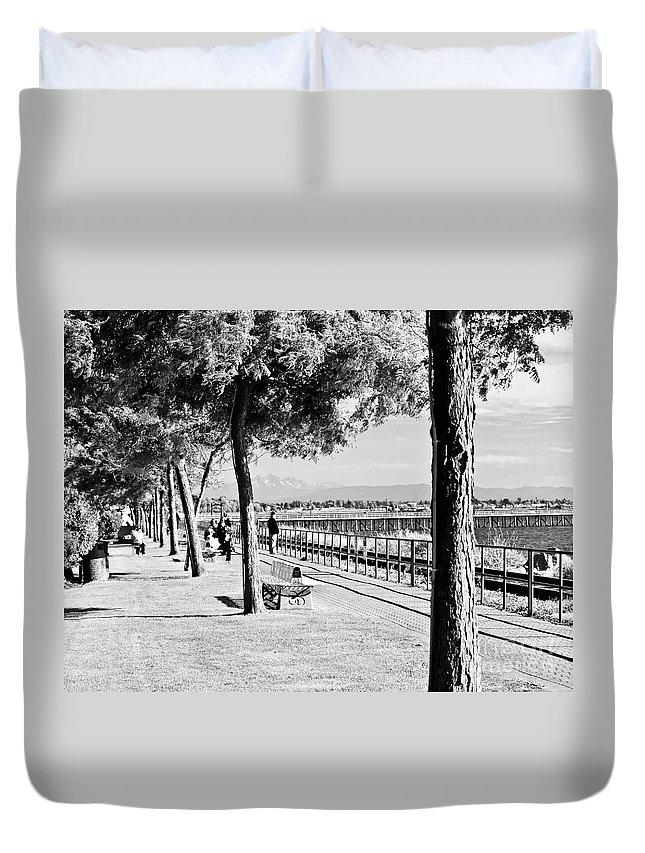 Promenade Duvet Cover featuring the photograph Promenade by David Fabian