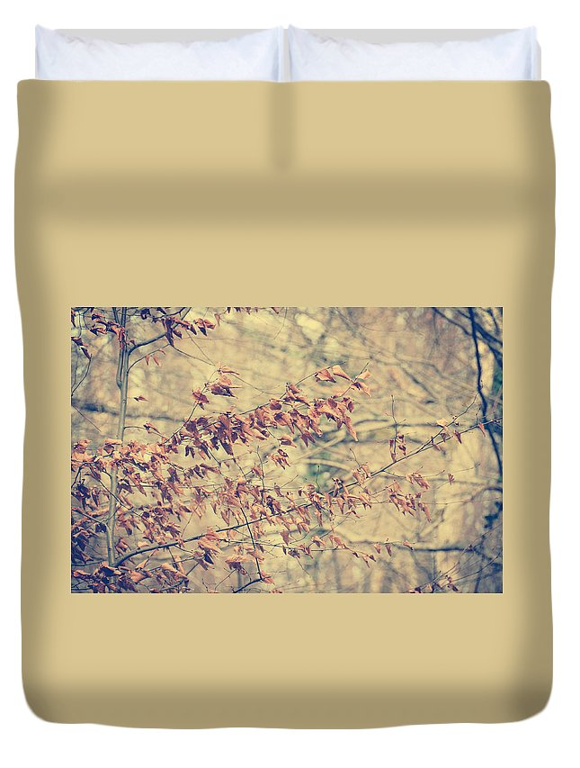 Leaves Duvet Cover featuring the photograph Promise by Zapista