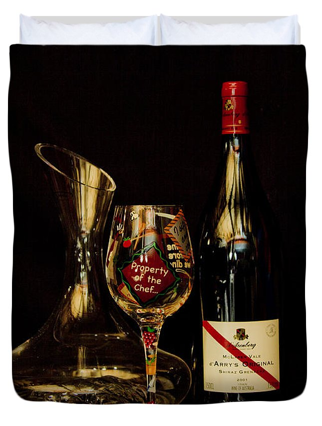 Wine Duvet Cover featuring the photograph Property Of The Chef by John Stuart Webbstock