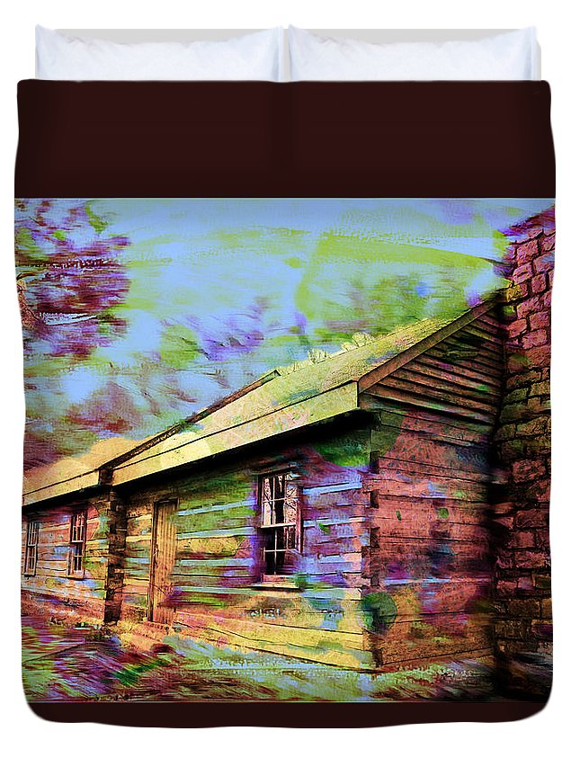 Shack Duvet Cover featuring the photograph Psychadelic Shack by Carlos Diaz