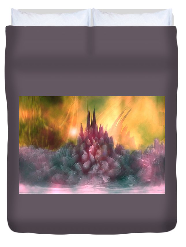 Abstract Duvet Cover featuring the digital art Psychedelic Tendencies  by Linda Sannuti