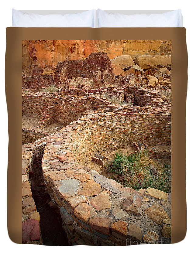 America Duvet Cover featuring the photograph Pueblo Bonito by Inge Johnsson
