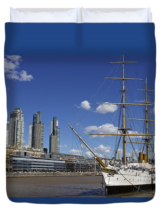 Urban Landscape Duvet Cover featuring the photograph Puerto Madero Buenos Aires by Venetia Featherstone-Witty