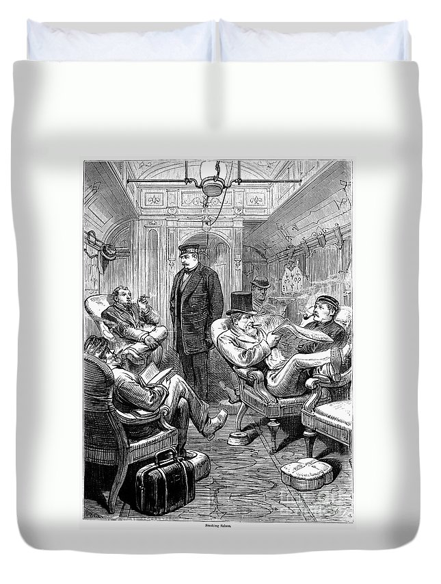 1876 Duvet Cover featuring the photograph Pullman Car, 1876 by Granger