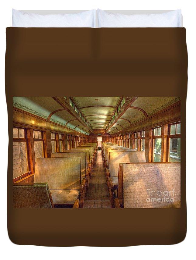 Pullman Porter Duvet Cover featuring the photograph Pullman Porter Train Car by Bob Christopher