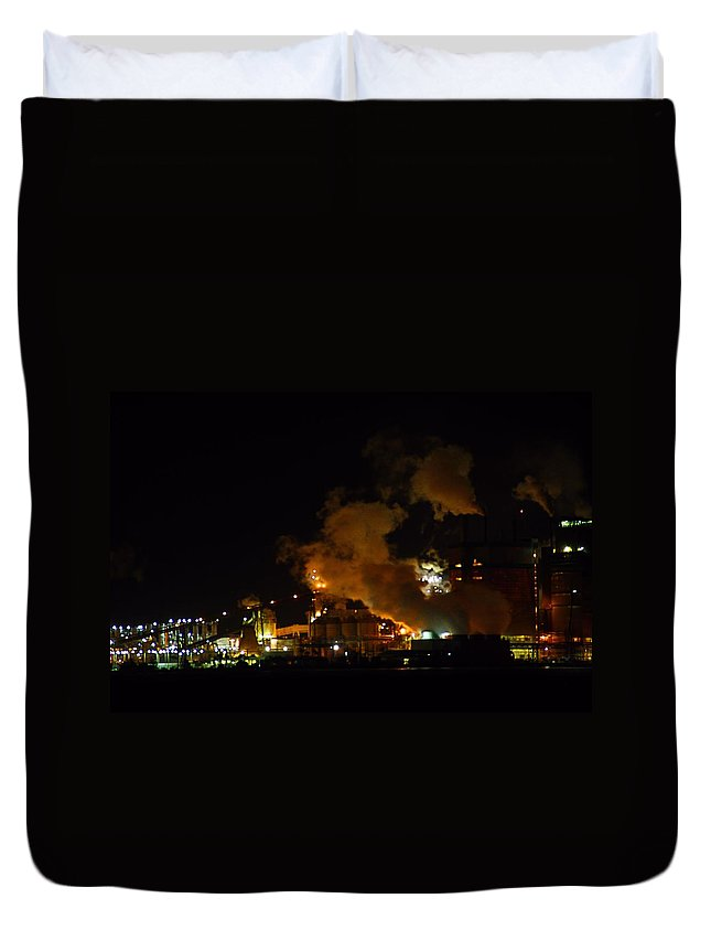 Pulp Mill Duvet Cover featuring the photograph Pulp Mill by Kathryn Meyer