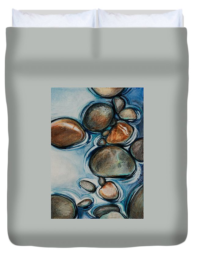 Nature Duvet Cover featuring the drawing Pulse by Lis Zadravec