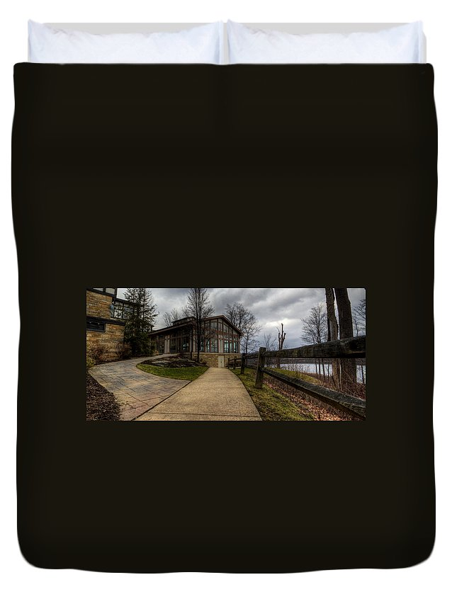State Park Duvet Cover featuring the photograph Punderson State Park by David Dufresne