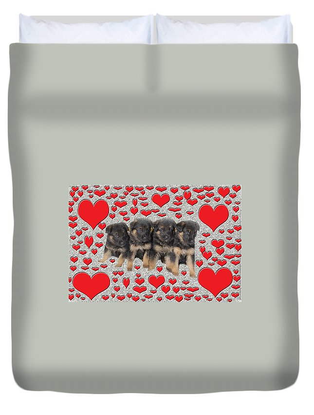 Puppy Duvet Cover featuring the photograph Puppy Love by Aimee L Maher ALM GALLERY