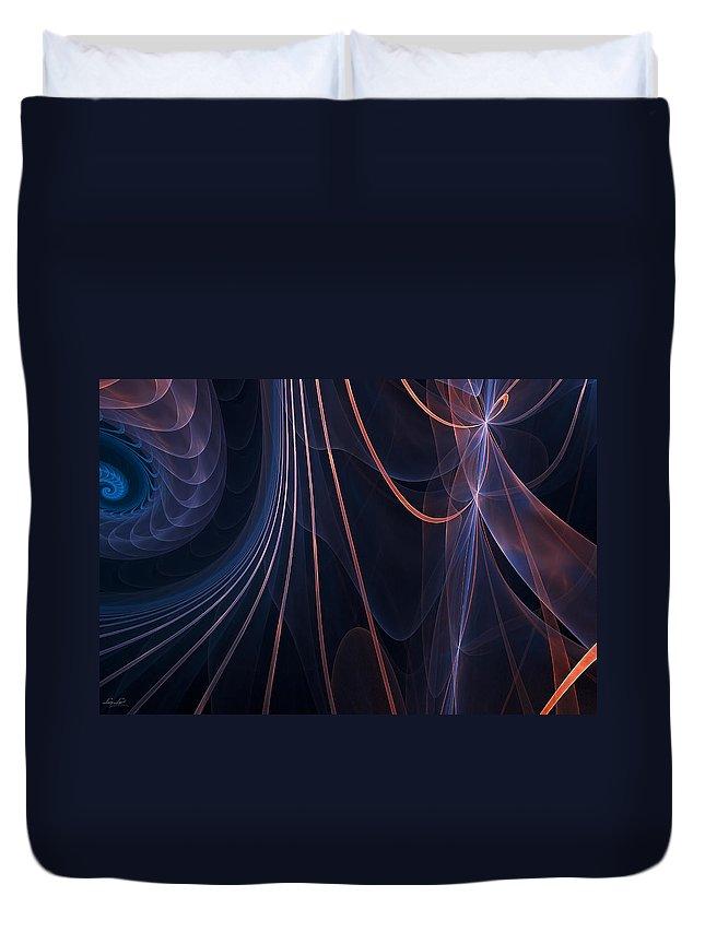 Fractal Duvet Cover featuring the photograph Purple Ablaze by Lourry Legarde