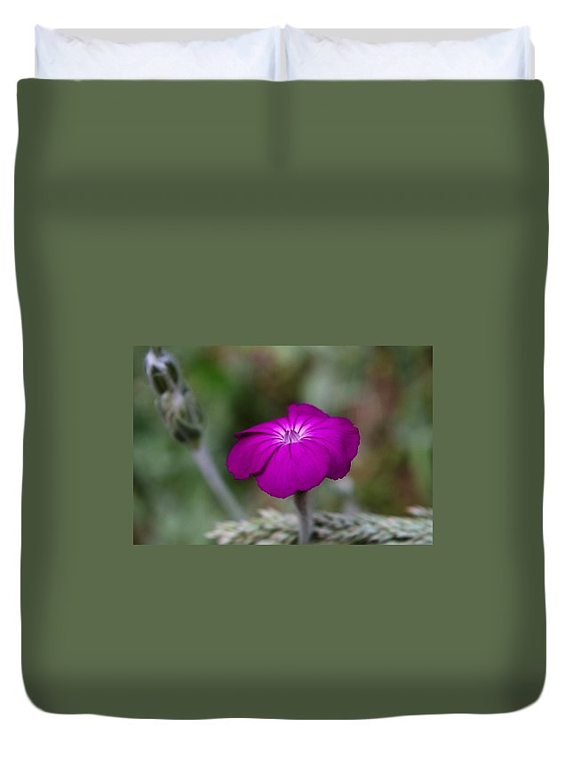 Flowers Duvet Cover featuring the photograph Purple Beauty by Jeff Swan