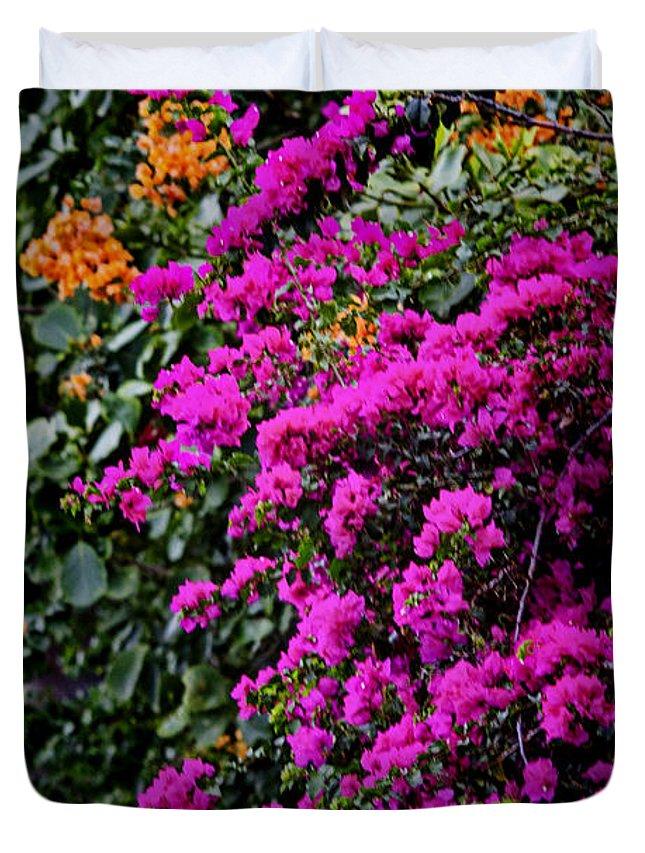 Colors Duvet Cover featuring the photograph Purple Contrast by Douglas Barnard