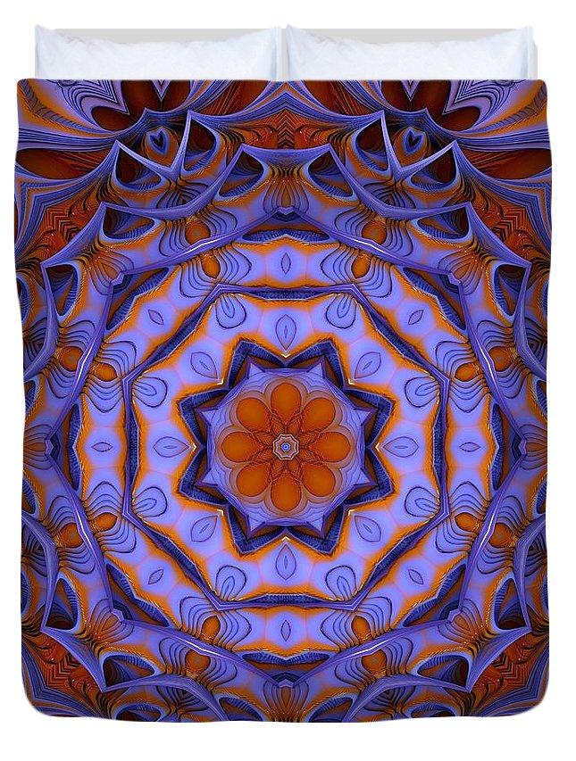 Purple Duvet Cover featuring the digital art Purple Design 2 by Lilia D