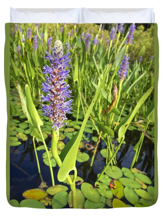 Flower Purple Duvet Cover featuring the photograph Purple Flower by Joan Reese