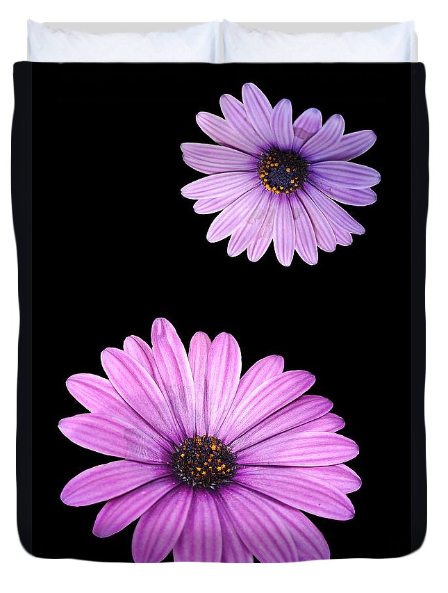Agriculture Duvet Cover featuring the digital art Purple Flowers by Nathan Wright