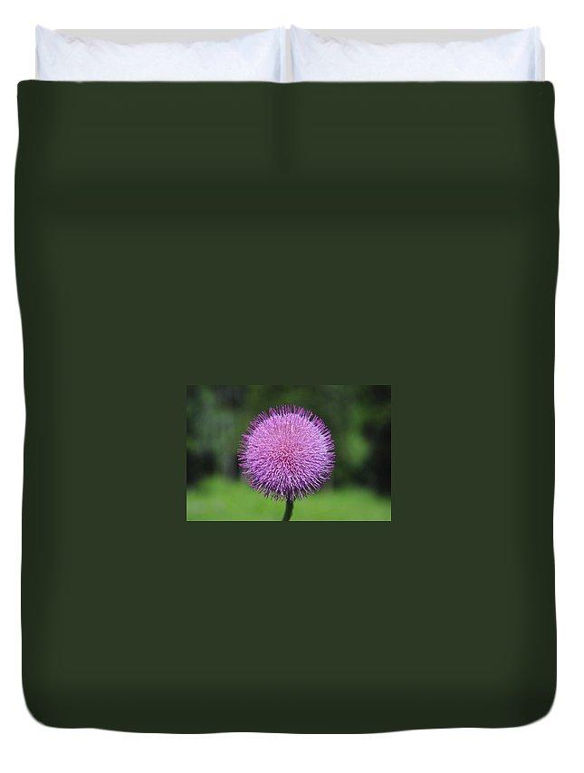 Photograph Duvet Cover featuring the photograph Purple Fuzz by Richard Gehlbach