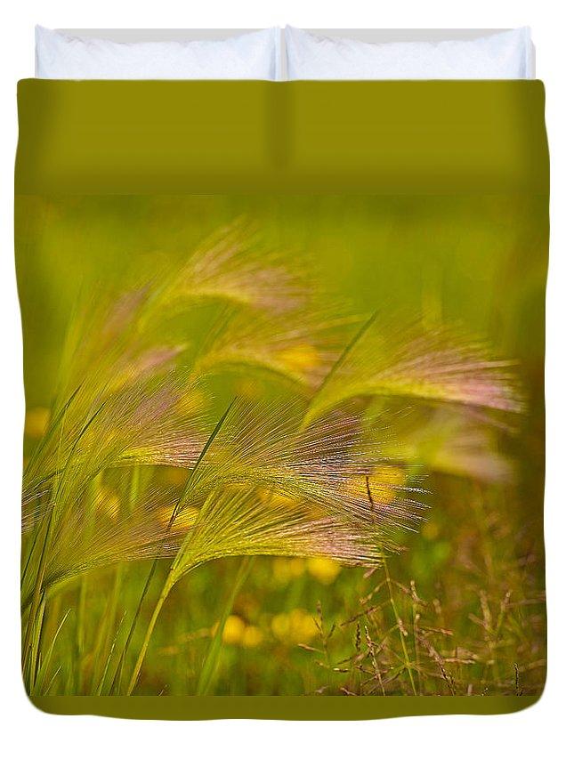 Foxtail Duvet Cover featuring the photograph Purple Haze by Joshua McCullough