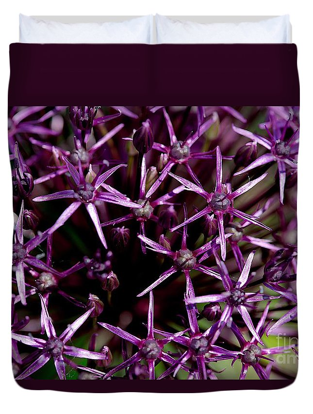 Flower Duvet Cover featuring the photograph Purple by Joseph Yarbrough