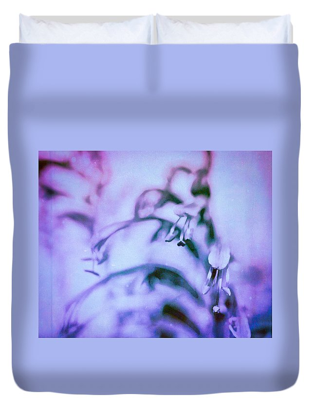 Flower Duvet Cover featuring the photograph Purple Memories Of Flowers by Priya Ghose
