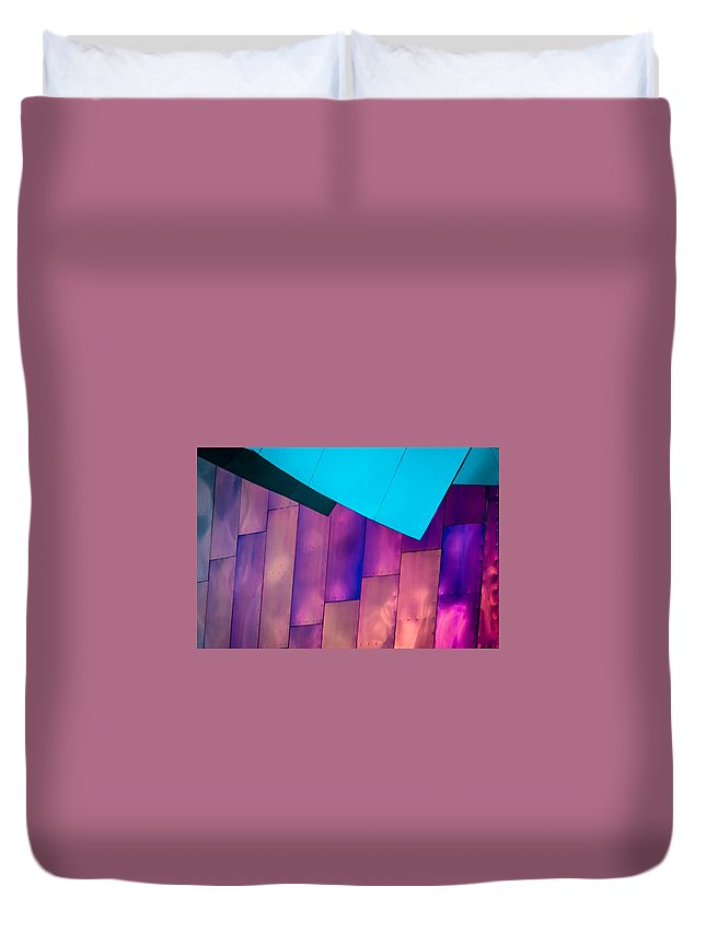 2008 Duvet Cover featuring the photograph Purple Panels by Melinda Ledsome