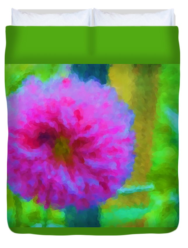 Flower Duvet Cover featuring the photograph Purple Passion by Alice Gipson