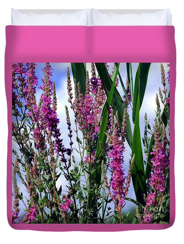 Purple Duvet Cover featuring the photograph Purple Wildflowers by Kathleen Struckle