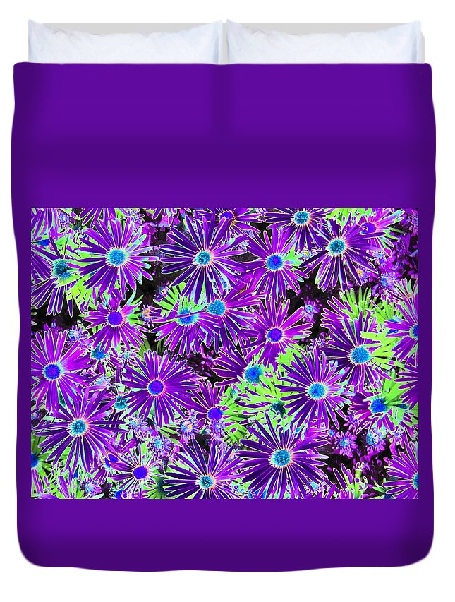 Flower Duvet Cover featuring the photograph Purplish Posies 03 - Photopower 2935 by Pamela Critchlow