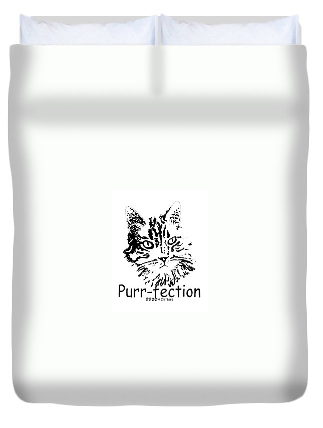Purr-fection Duvet Cover featuring the photograph Purr-fection by Robyn Stacey